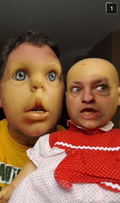 Snapchat face swap baby