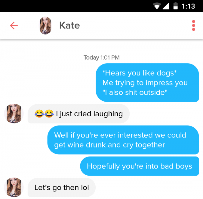 These Hilarious Tinder Messages Will Make You Swipe Right   22 Words