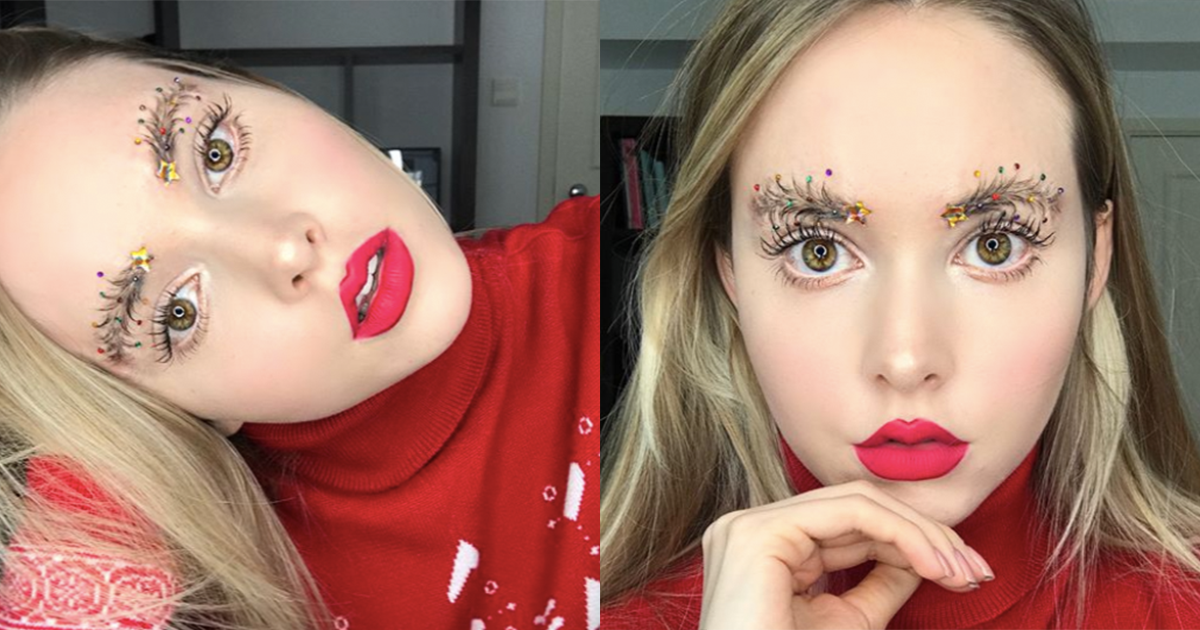 Christmas Tree Eyebrows.Christmas Tree Eyebrows The New Holiday Trend Is Here And