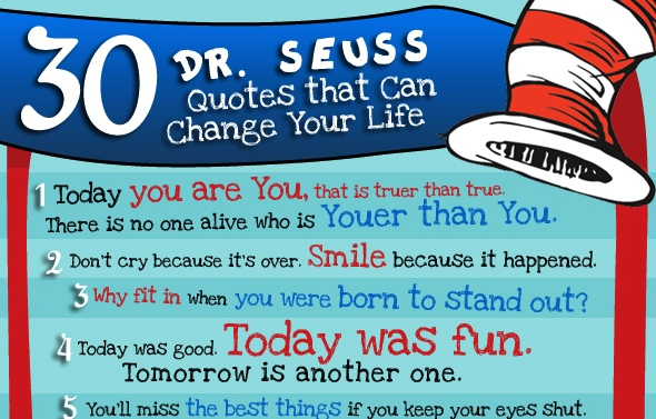 Pre K Quotes Best 30 Inspirational Drseuss Quotes  22 Words